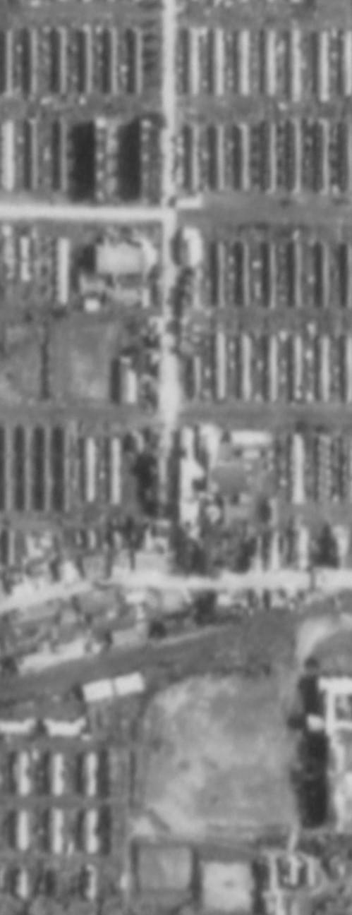 1972年(昭和47年)駅前商店街 航空写真