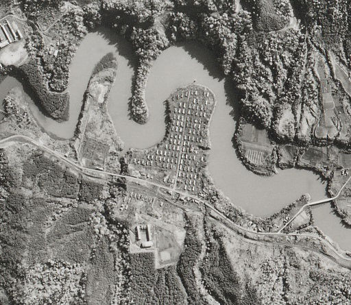 昭和47年明石町航空写真