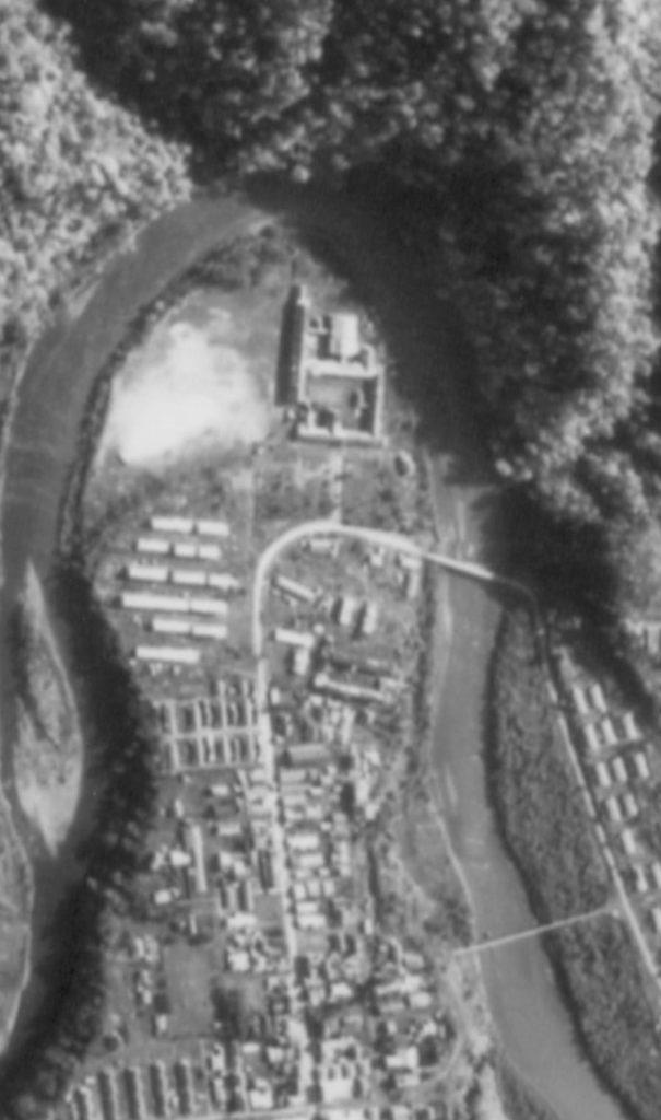 昭和47年 鹿島東小学校周辺 航空写真
