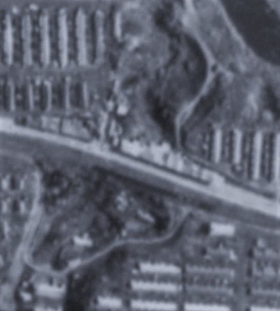 昭和47年岳富町商店街航空写真