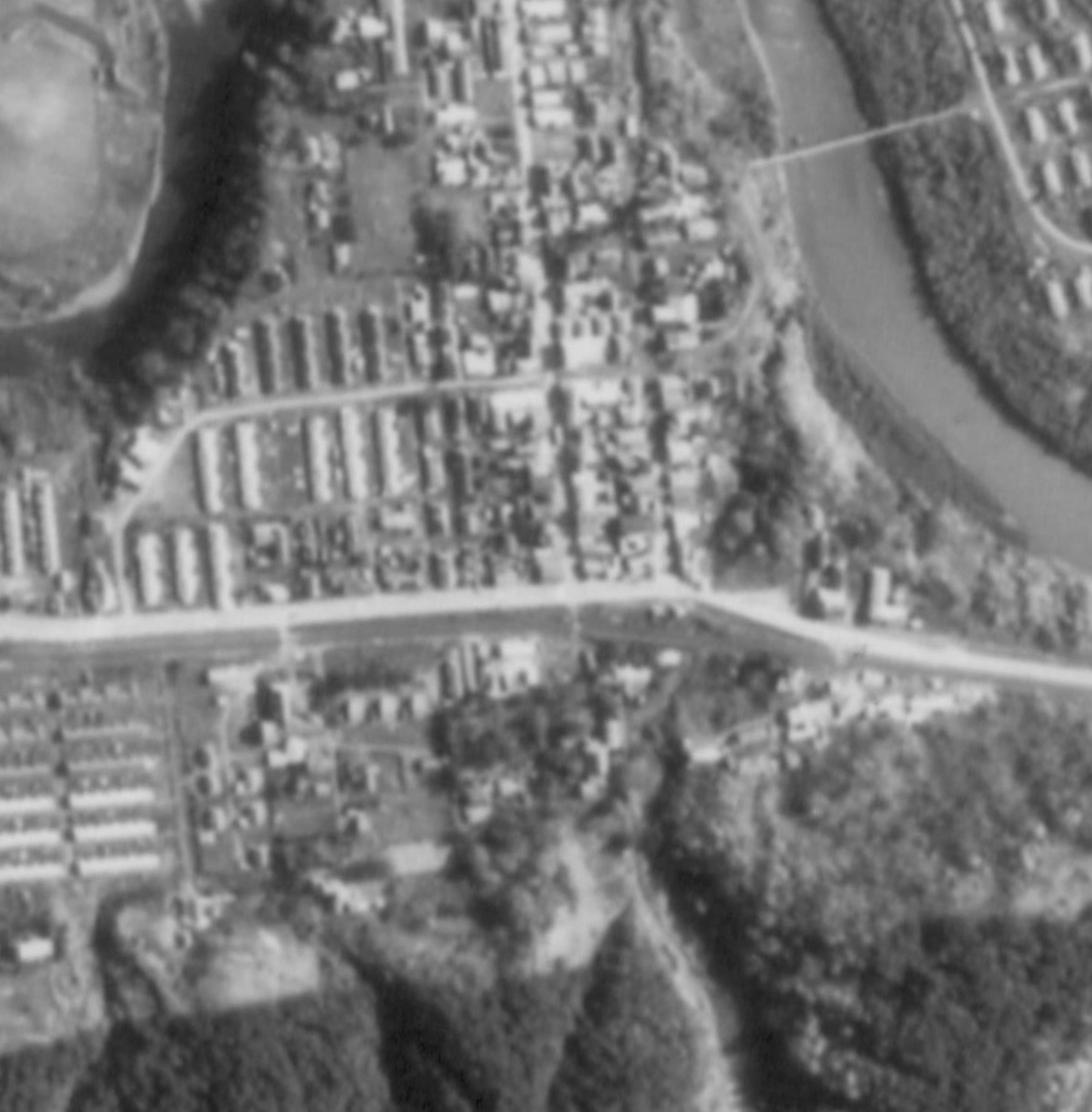 昭和47年千年町駅周辺航空写真