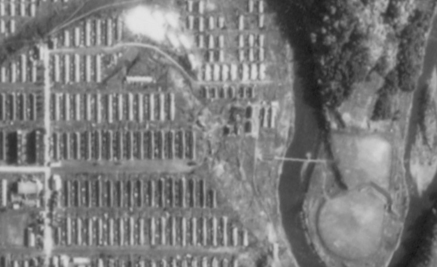 昭和47年弥生町航空写真