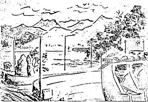 – 大夕張風物 – ダムと湖と三弦橋