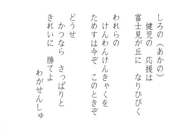 鹿島小学校 運動会応援歌 ナンバーツー!
