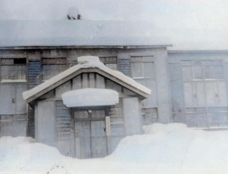 昭和28年 鹿島小学校玄関