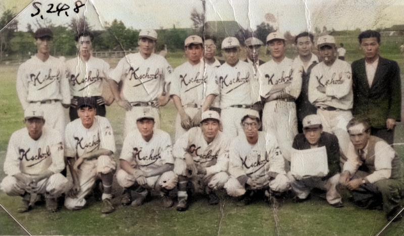 昭和24年 鹿島小学校教職員野球部
