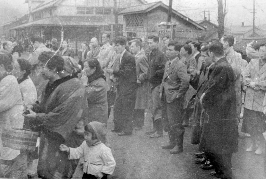昭和32年 大夕張駅 見送り風景