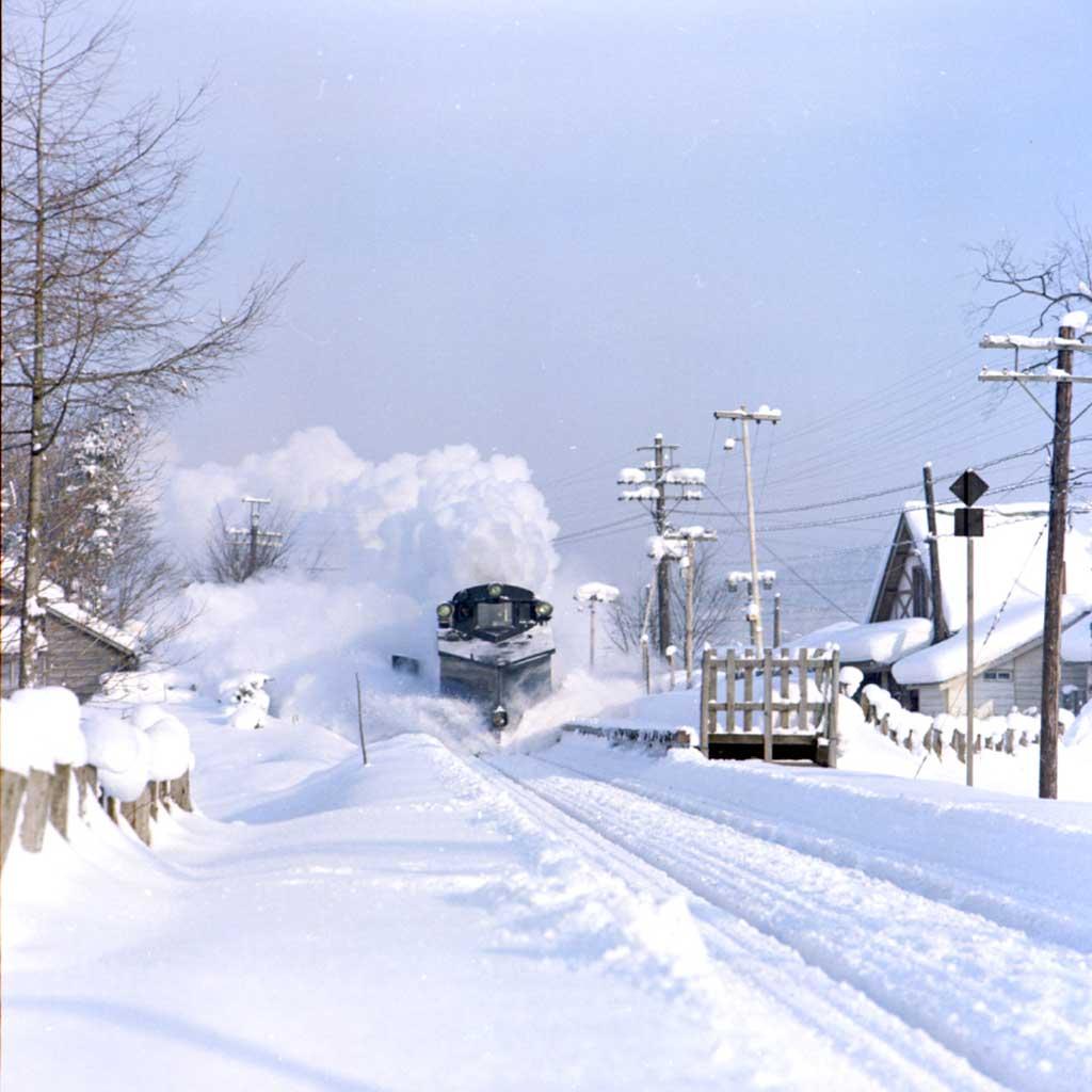 新雪の朝(千年町駅)