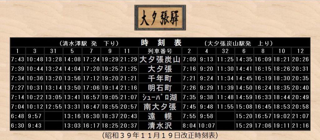 昭和39年11月 鉄道時刻表