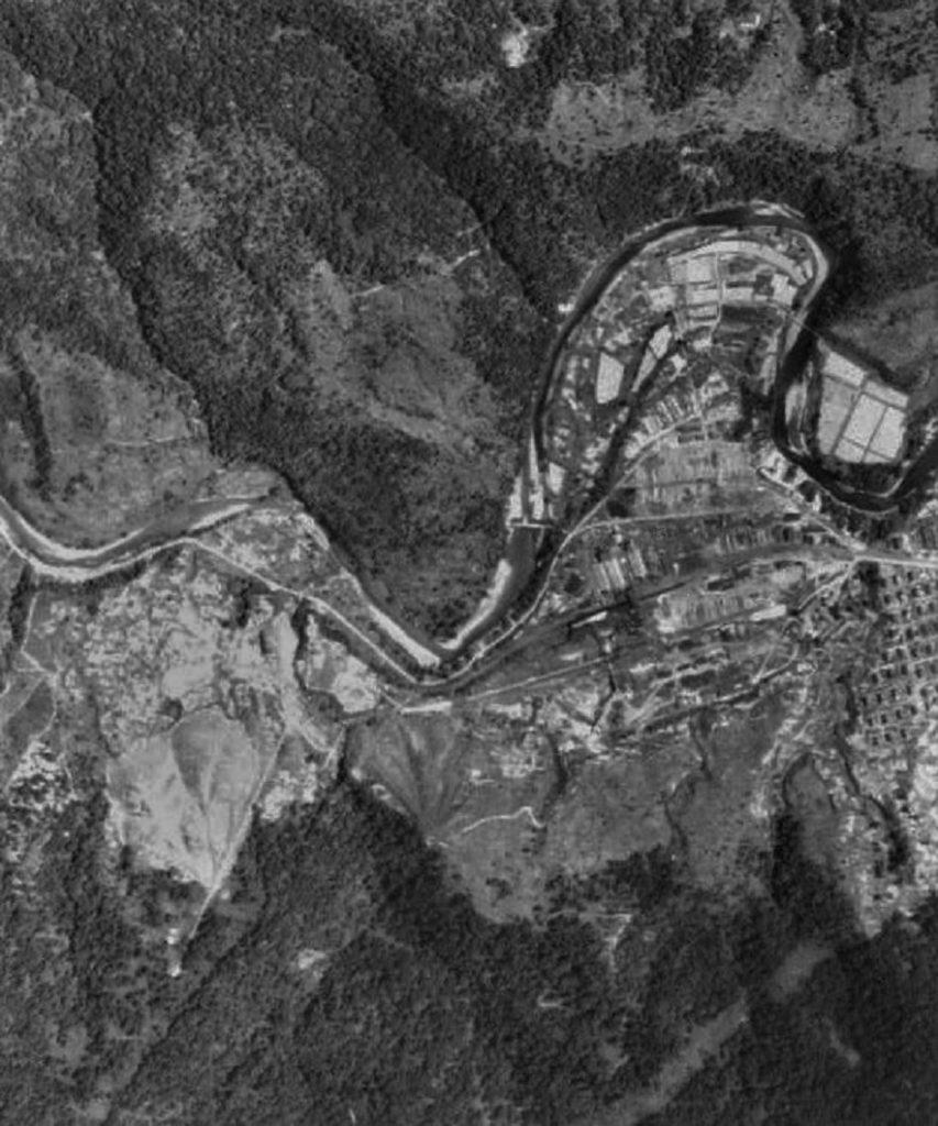 昭和30年官行周辺航空写真
