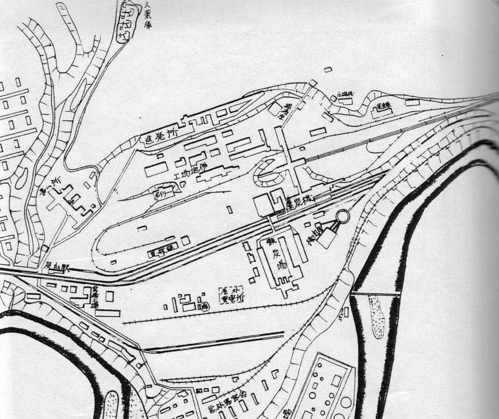 礦業所建物配置図
