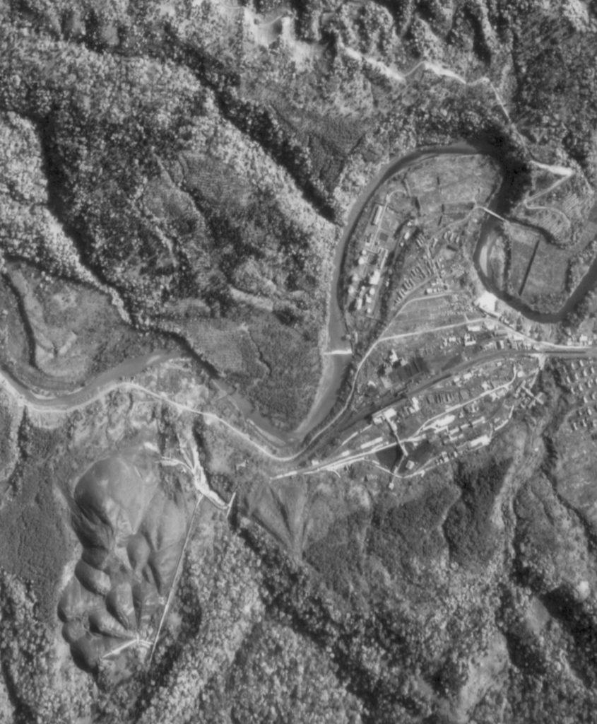 昭和47年官行(鹿島北栄町)周辺航空写真