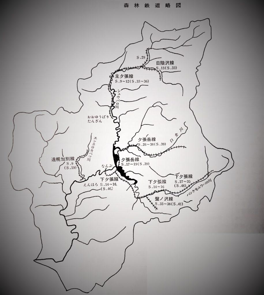 森林鉄道路線 略図
