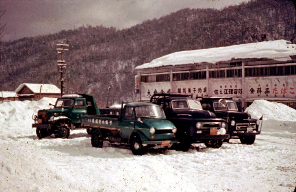 昭和40年代 遠幌駅前