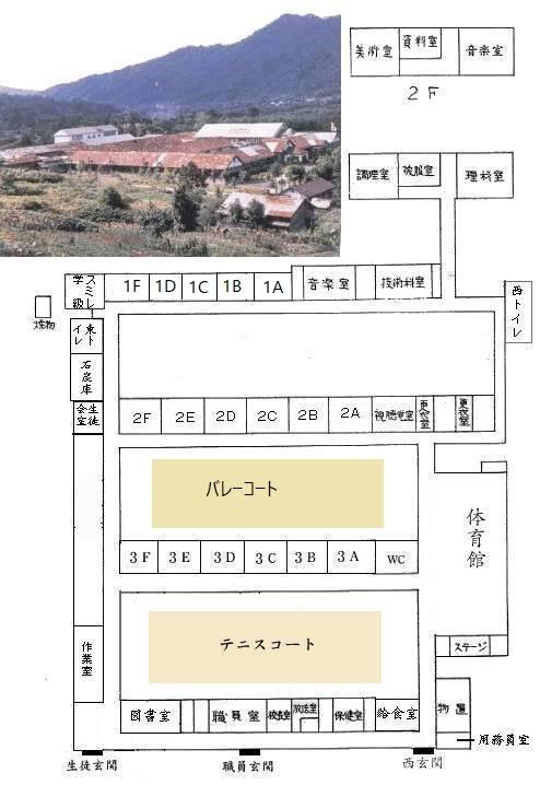 昭和46年 鹿島中学校 教室配置図