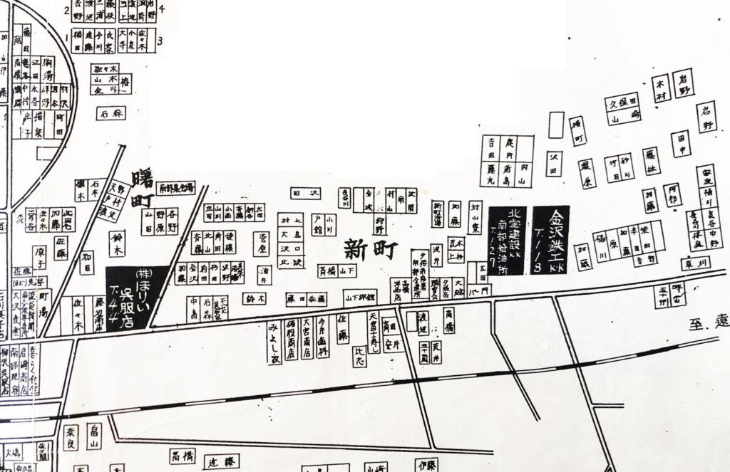 南部 曙・新町 住宅地図(昭和43年)