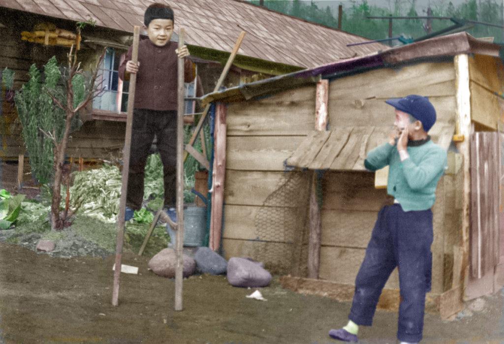 竹馬遊び 代々木町 昭和37年