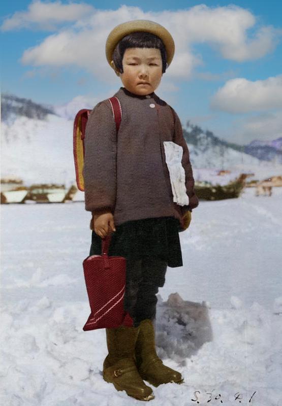 昭和30年鹿島小学校入学の日