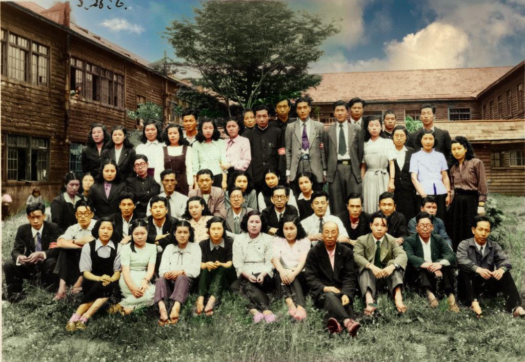 昭和26年6月 鹿島小学校教職員