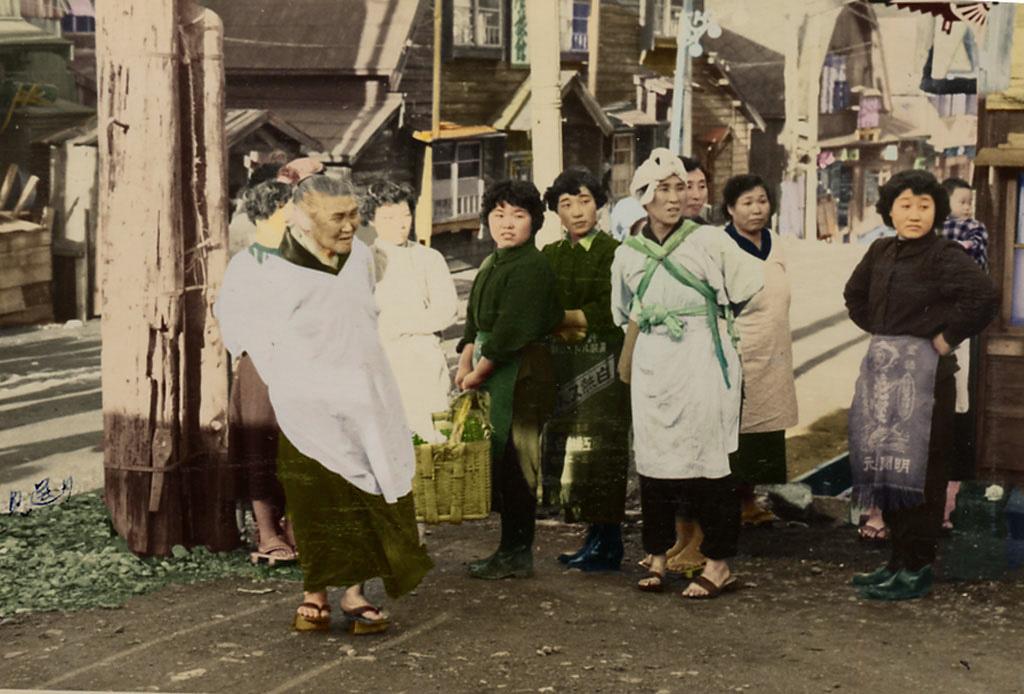 昭和30年 千年町 花嫁行列を見送る人々