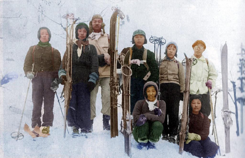 昭和10年代 冬山スキー行事