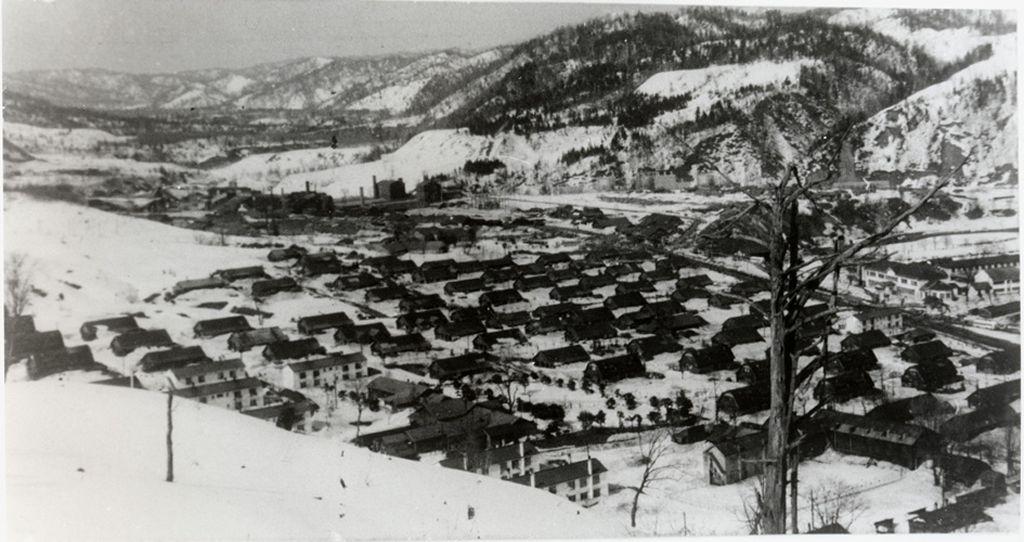 昭和42年 雪の大夕張(全景写真5枚)