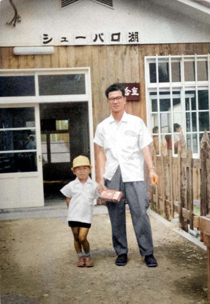 昭和37年シューパロ湖駅待合室