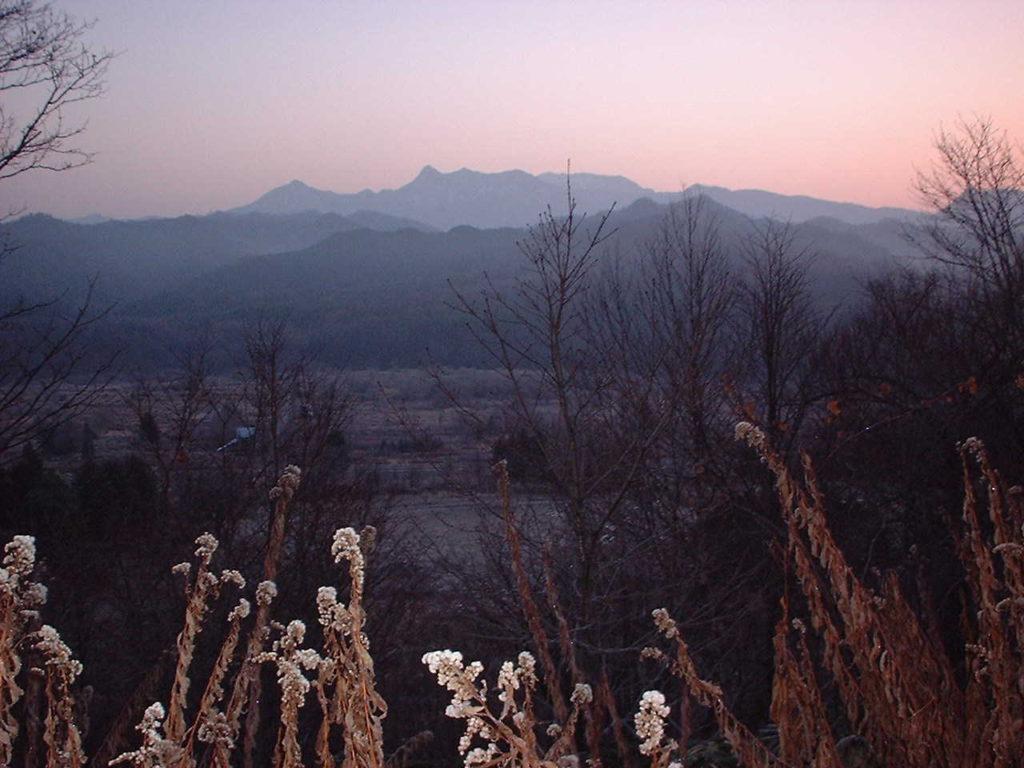 朝焼けの夕張岳  | 高橋歌子