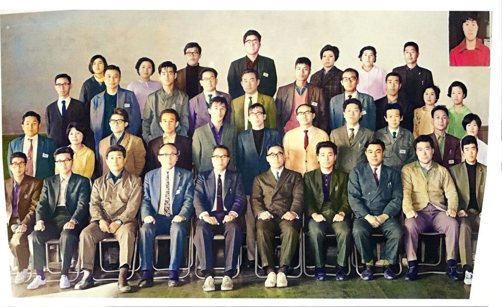 昭和45年鹿島中学校教職員