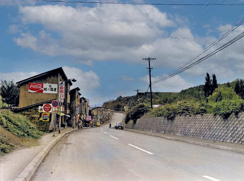 岳富町の坂 (緑町から岳富町方面)