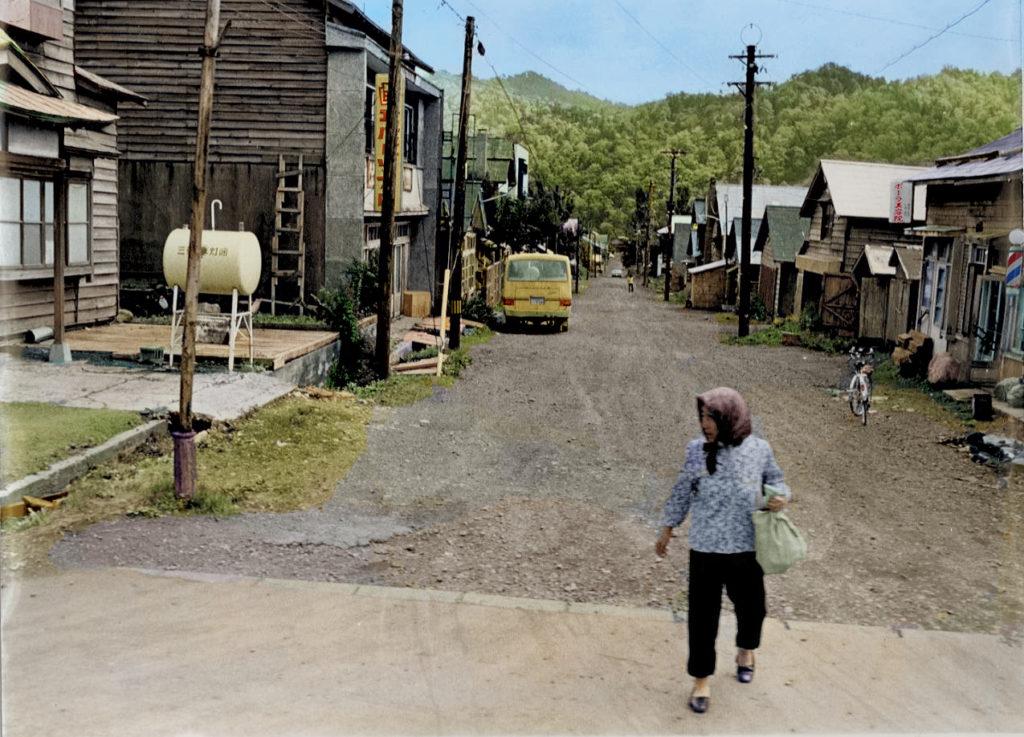 昭和45年千年町駅前の通り