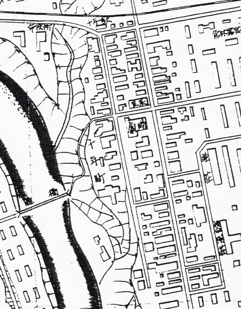 千年町市街地図(昭和33年)