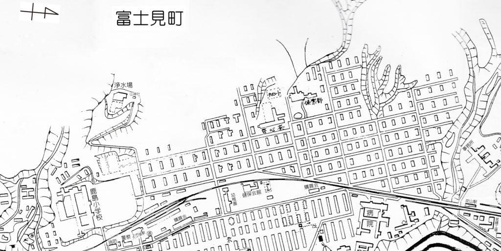 白地図 富士見町周辺(昭和33年)