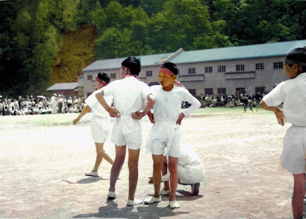 昭和33年 鹿島東小学校運動会 リレー競技