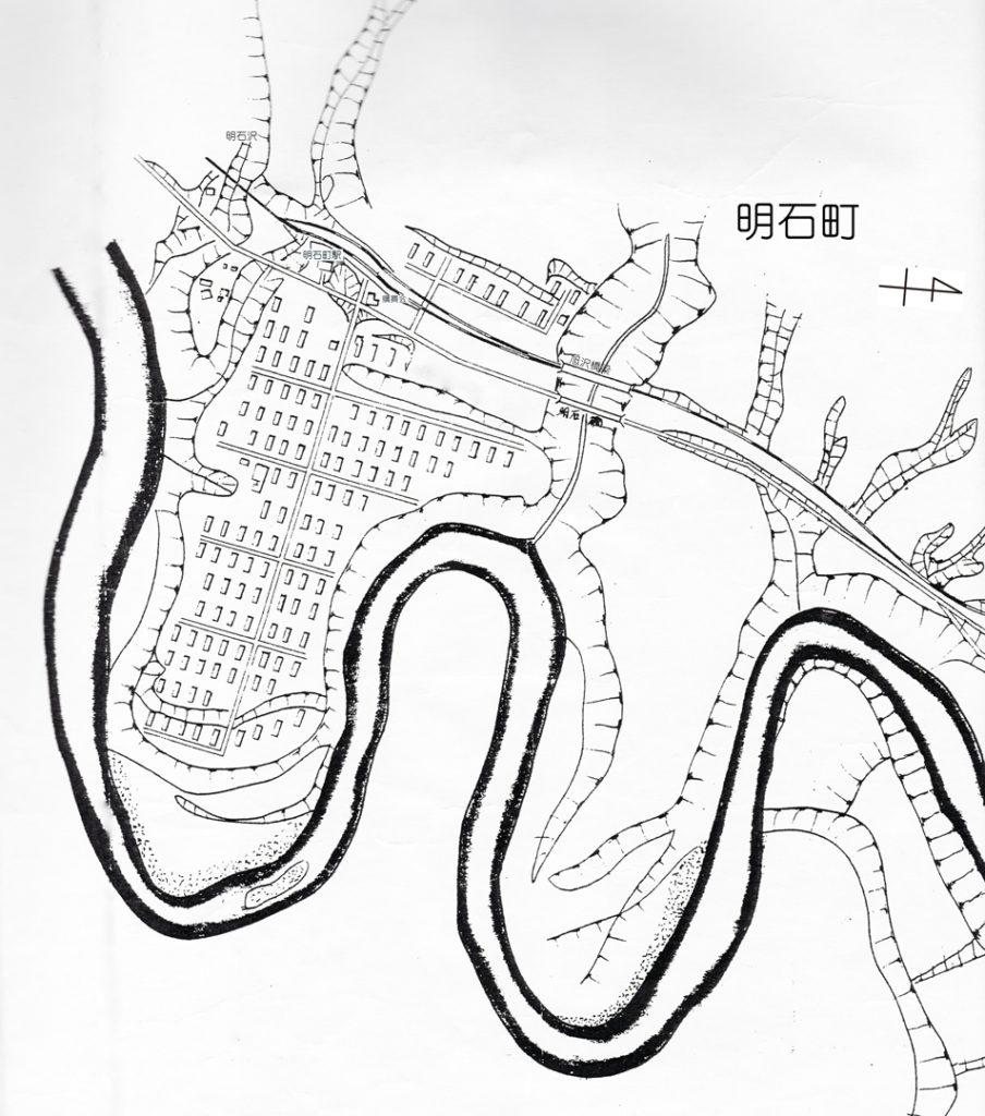白地図 明石町周辺
