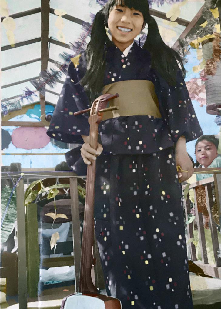 緑町山車の三味線少女 |Kawauchi Masami