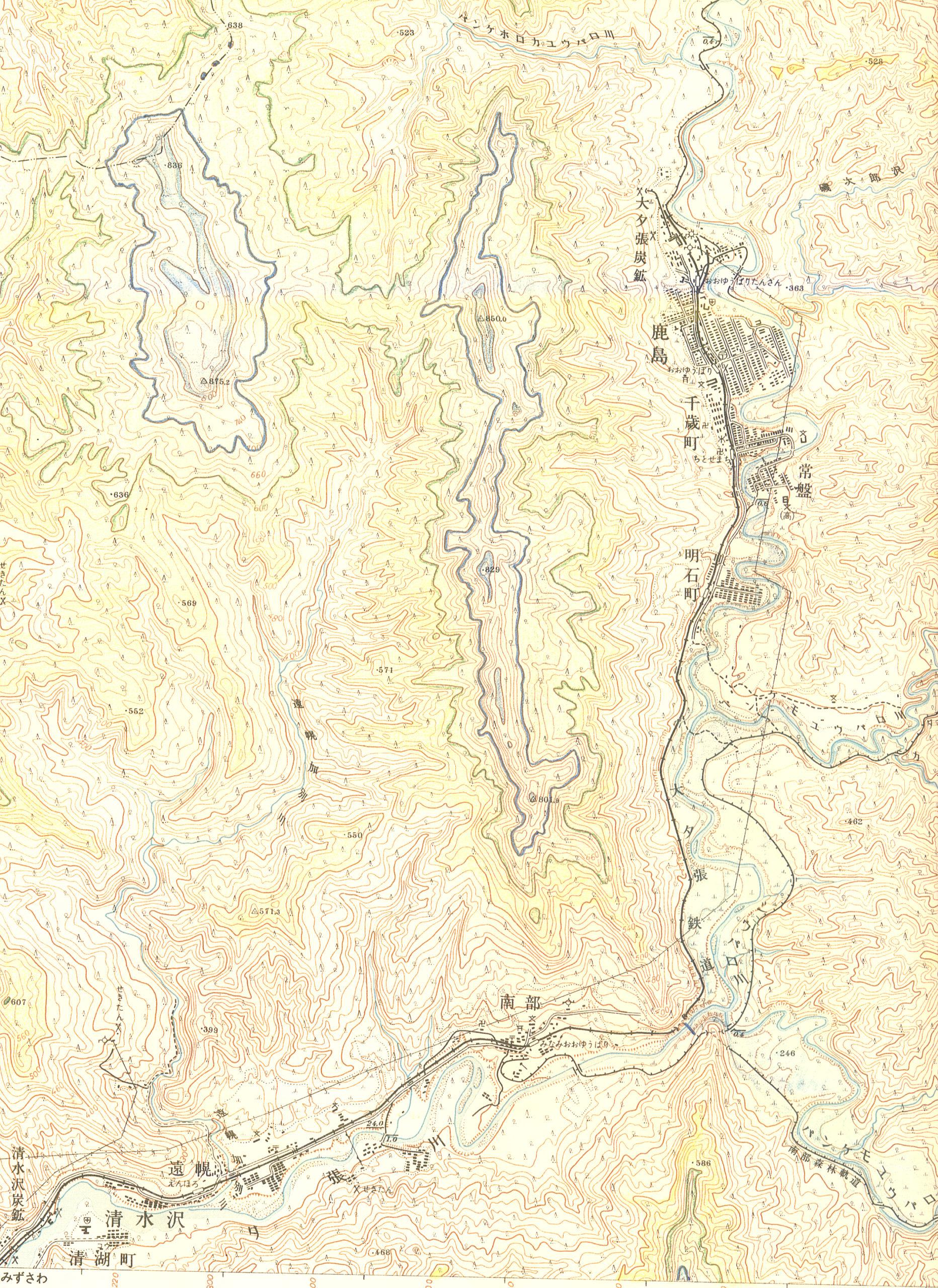 地図に引かれた一本の線 昭和37年「石狩鹿島」