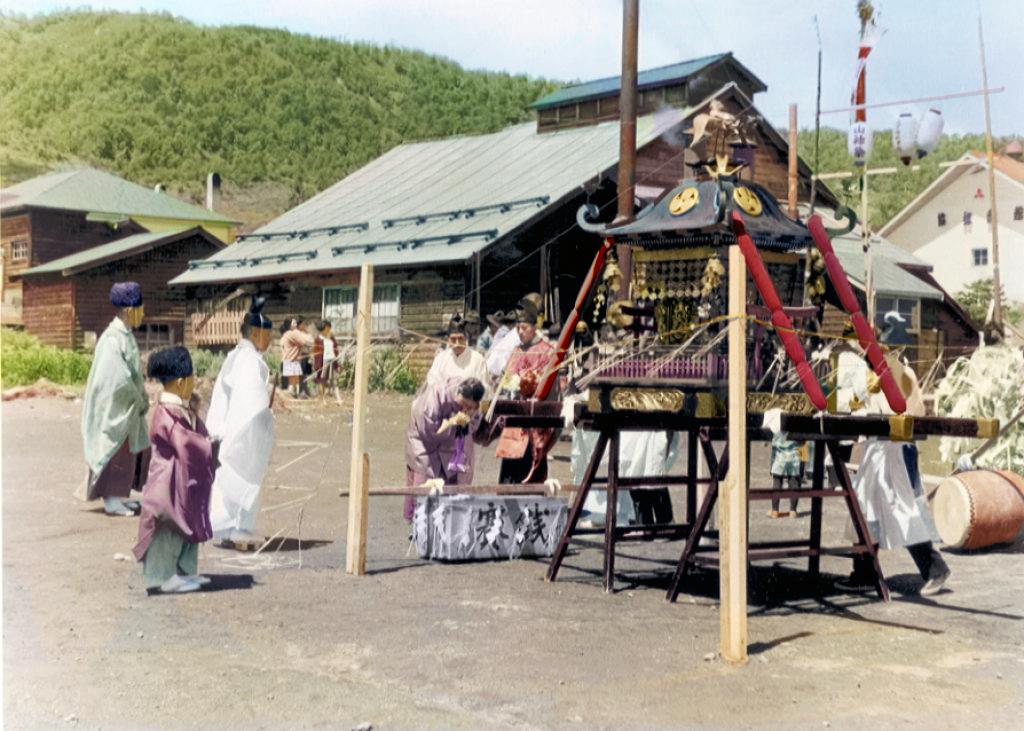 山神祭(弥生町詰所前広場)