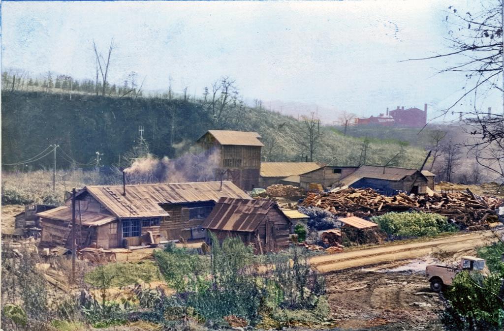 初音沢 木材工場