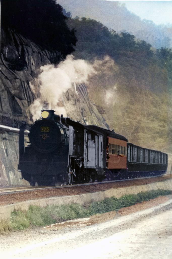 湖畔の列車