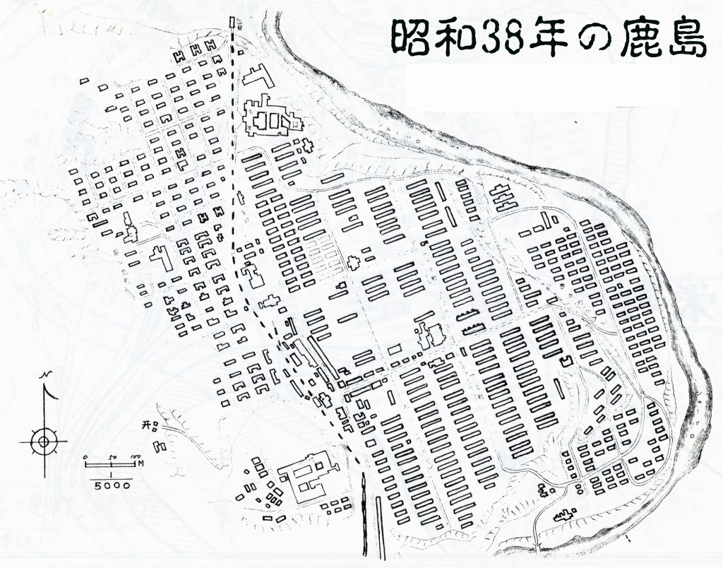 昭和38年鹿島地図