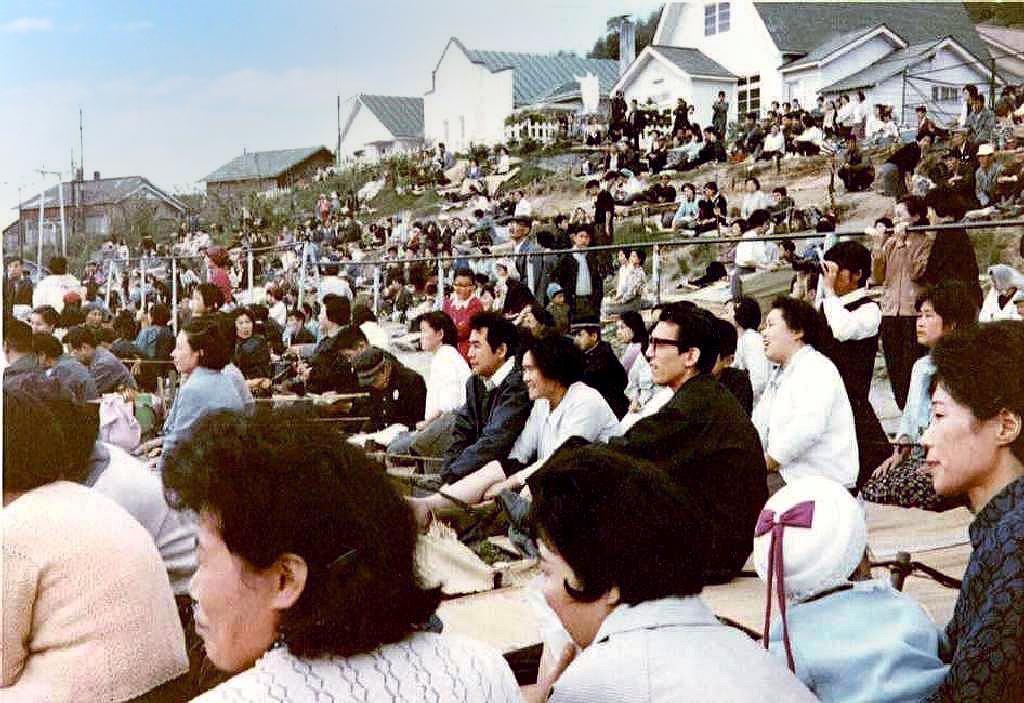 運動会の父母観覧席
