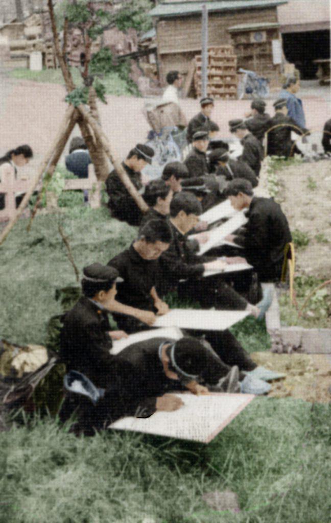 鹿島中学校 写生