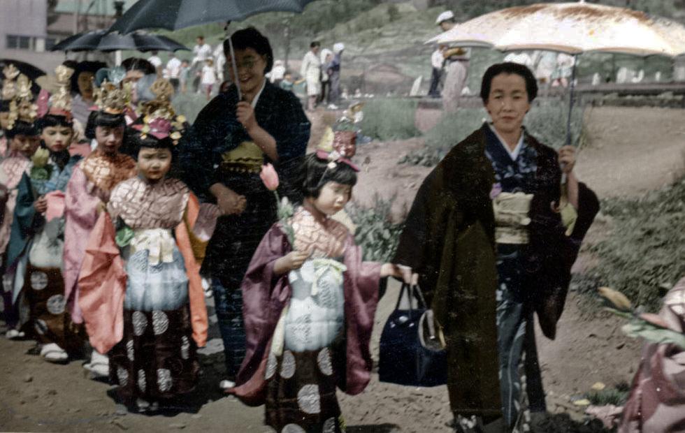 昭和29年 稚児行列
